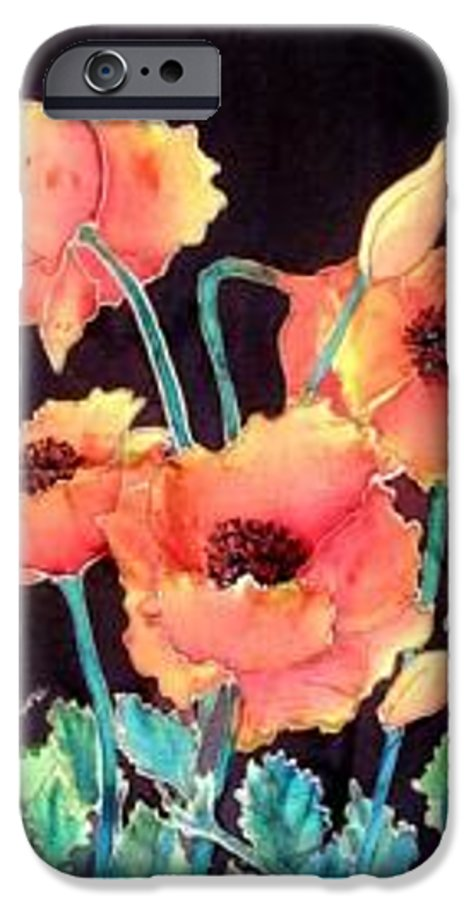 Poppies IPhone 6 Case featuring the painting Orange Poppies by Francine Dufour Jones