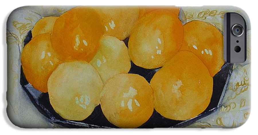 Still Life Watercolor Original Leilaatkinson Oranges IPhone 6 Case featuring the painting Oranges by Leila Atkinson