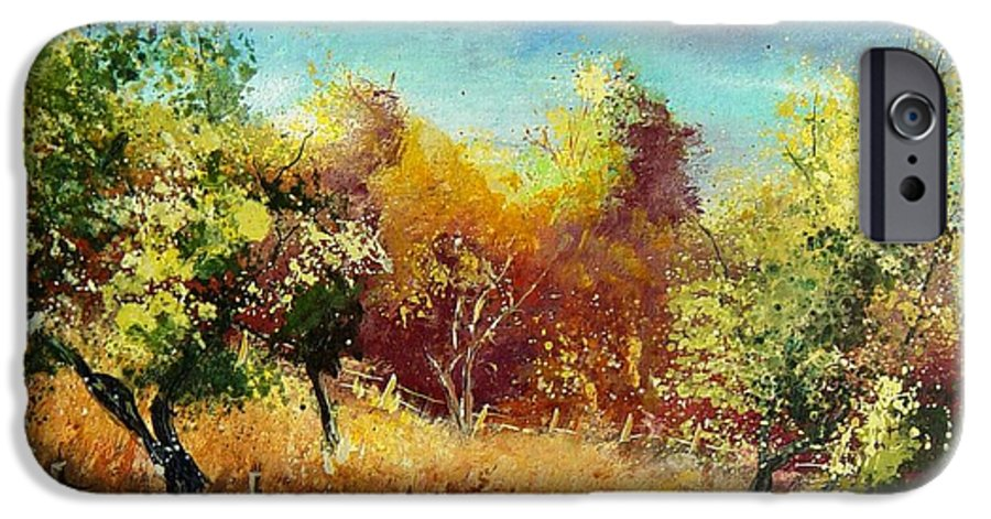 Flowers IPhone 6 Case featuring the painting Orchard by Pol Ledent