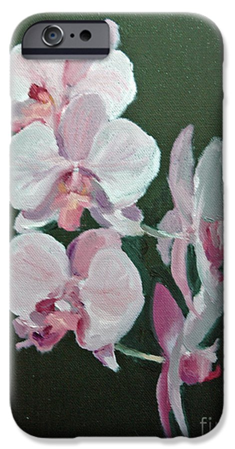 Floral IPhone 6 Case featuring the painting Orchids For Didi by Glenn Secrest