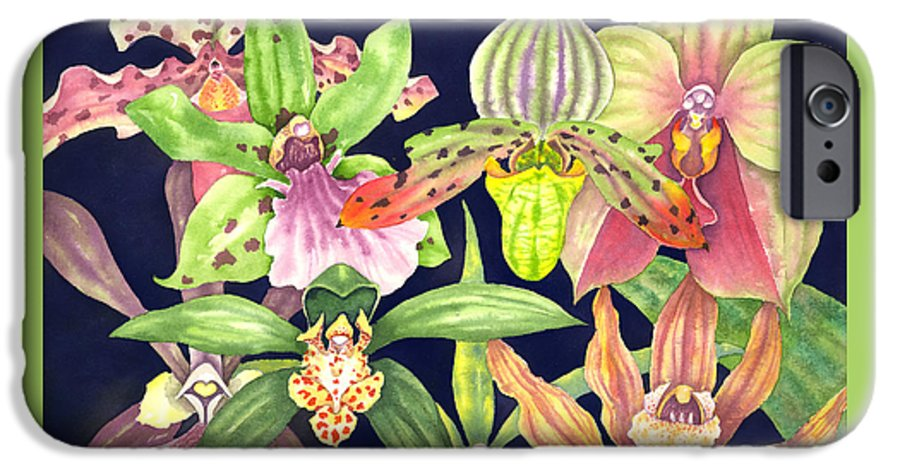 Orchids IPhone 6 Case featuring the painting Orchids by Lucy Arnold
