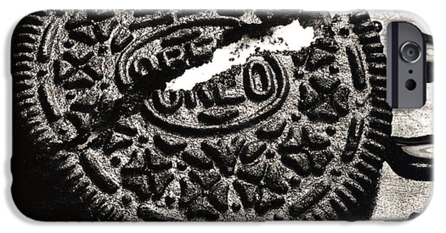 Cookie IPhone 6 Case featuring the photograph Oreo Cookie by Nancy Mueller