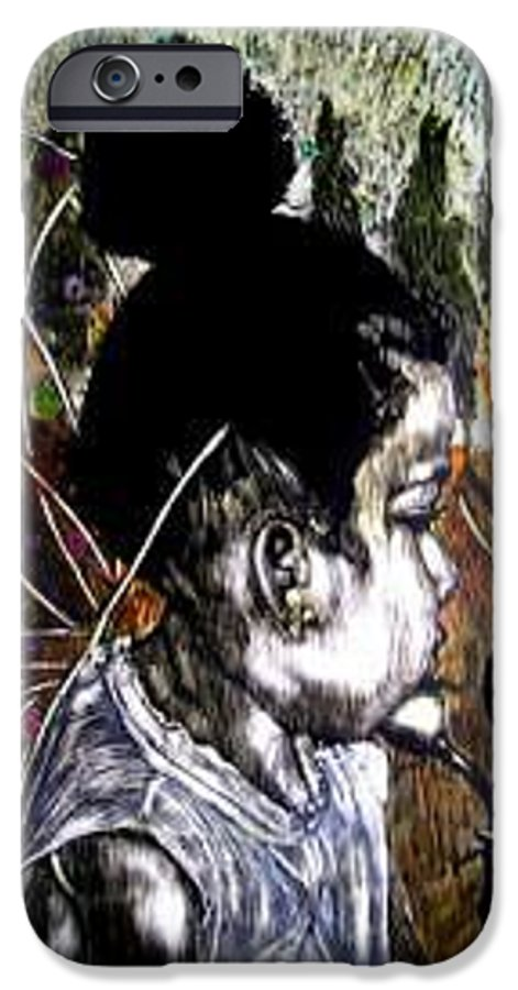Fantasy IPhone 6 Case featuring the mixed media Our Farie Princess by Chester Elmore