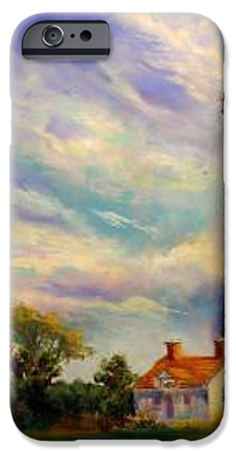 Lighthouse IPhone 6 Case featuring the painting Outer Banks Lighthouse by Lynee Sapere