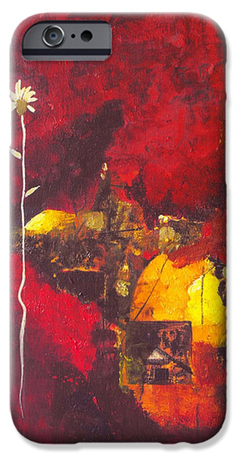 Abstract IPhone 6 Case featuring the painting Over The Broken Fence by Ruth Palmer