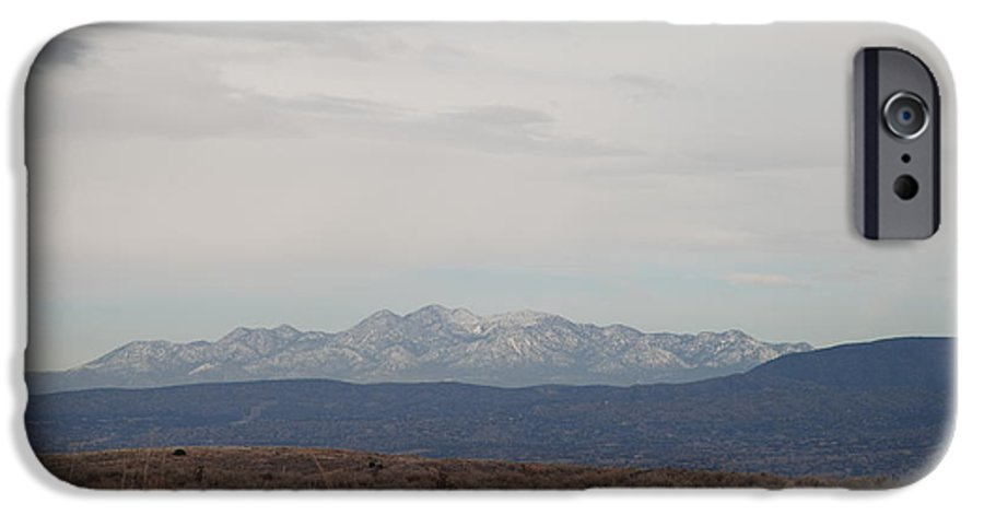 Mountains IPhone 6 Case featuring the photograph Overcast On The Sandias by Rob Hans