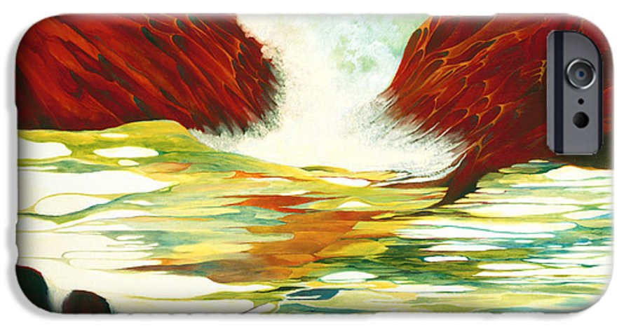 Oil IPhone 6 Case featuring the painting Overflowing by Peggy Guichu