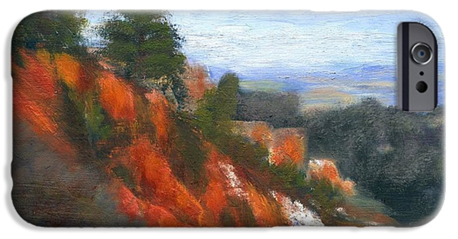 Southwest IPhone 6 Case featuring the painting Overlook by Gail Kirtz