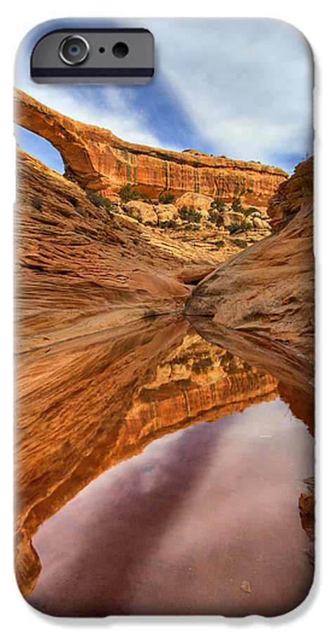 Bridge IPhone 6 Case featuring the photograph Owachomo Reflected by Mike Dawson