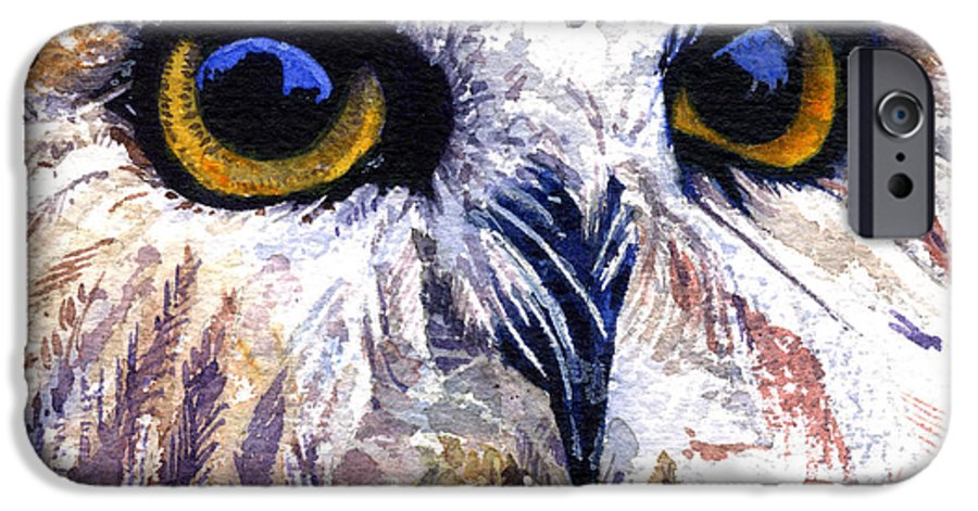Eye IPhone 6 Case featuring the painting Owl by John D Benson