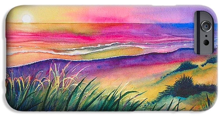 Pacific IPhone 6 Case featuring the painting Pacific Evening by Karen Stark