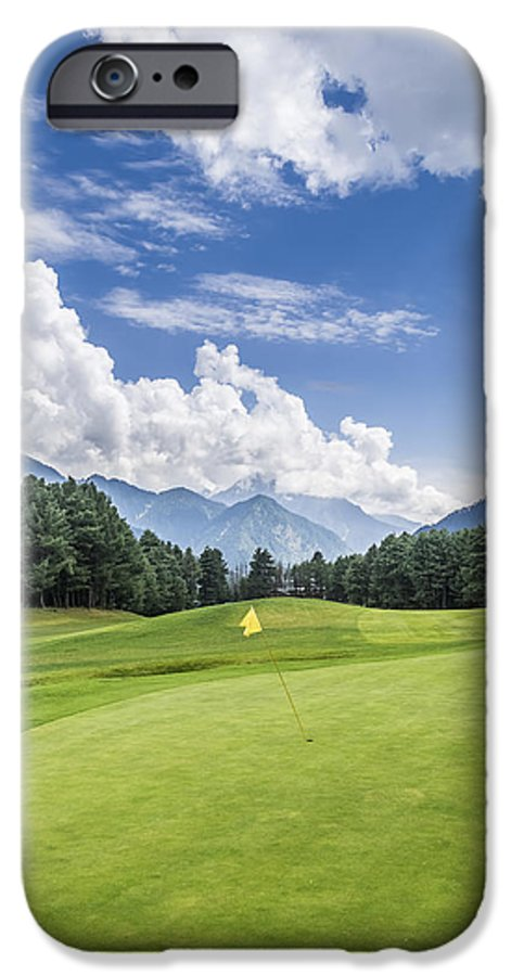 Pahalgam Golf Course With Mountains In Background Iphone 6 Case For Sale By Kunal