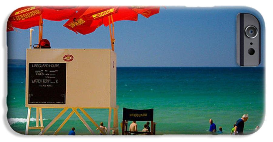Palm Beach Sun Sea Sky Beach Umbrellas IPhone 6 Case featuring the photograph Palm Beach Dreaming by Sheila Smart Fine Art Photography