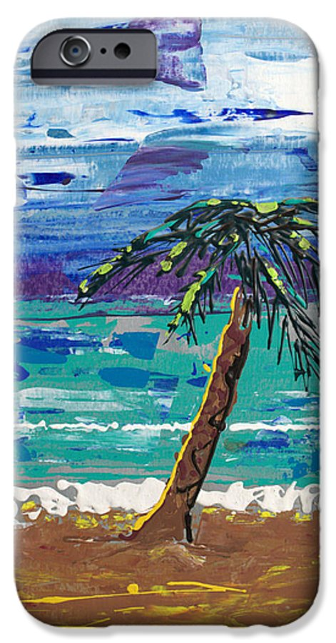 Palm Tree IPhone 6 Case featuring the painting Palm Beach by J R Seymour