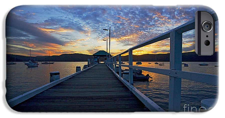 Palm Beach Sydney Wharf Sunset Dusk Water Pittwater IPhone 6 Case featuring the photograph Palm Beach Wharf At Dusk by Avalon Fine Art Photography