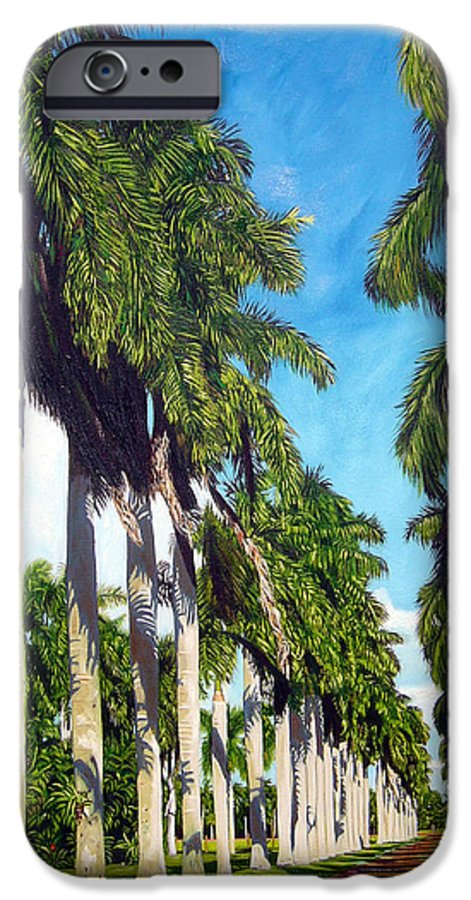 Palms IPhone 6 Case featuring the painting Palms by Jose Manuel Abraham