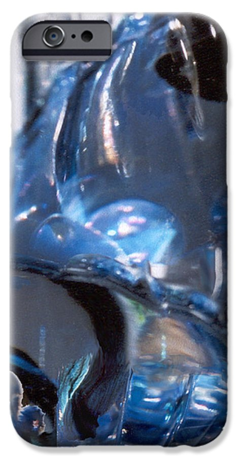 Glass IPhone 6 Case featuring the photograph Panel 2 From Swirl by Steve Karol