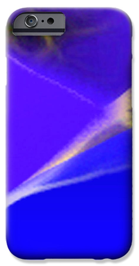 Abstract IPhone 6 Case featuring the digital art panel three from Movement in Blue by Steve Karol