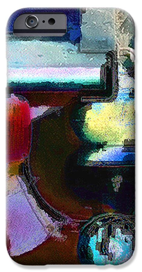 Abstract IPhone 6 Case featuring the photograph panel two from Centrifuge by Steve Karol