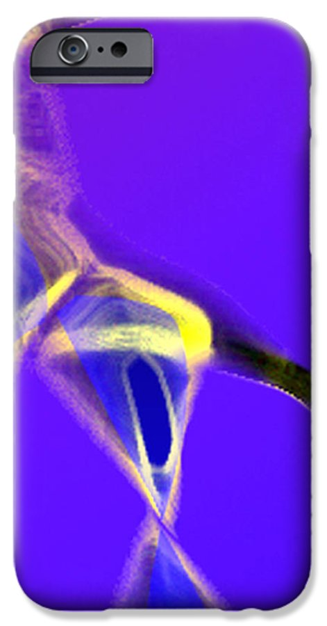 Abstract IPhone 6 Case featuring the digital art panel two from Movement in Blue by Steve Karol