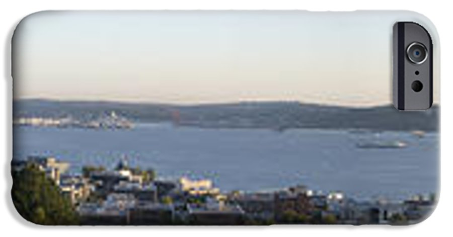 Panoramic IPhone 6 Case featuring the photograph Panoramic Of Seattle by Larry Keahey