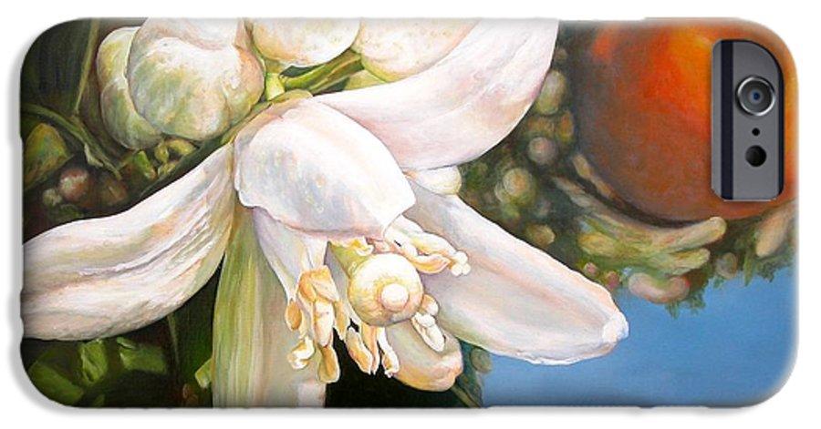 Floral Painting IPhone 6 Case featuring the painting Parfum D by Muriel Dolemieux