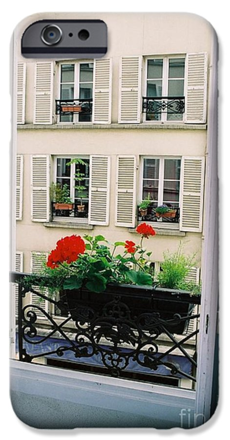 Window IPhone 6 Case featuring the photograph Paris Day Windowbox by Nadine Rippelmeyer