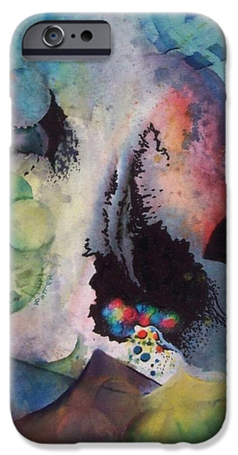Abstract IPhone 6 Case featuring the painting Passage Of Time by Virginia Potter