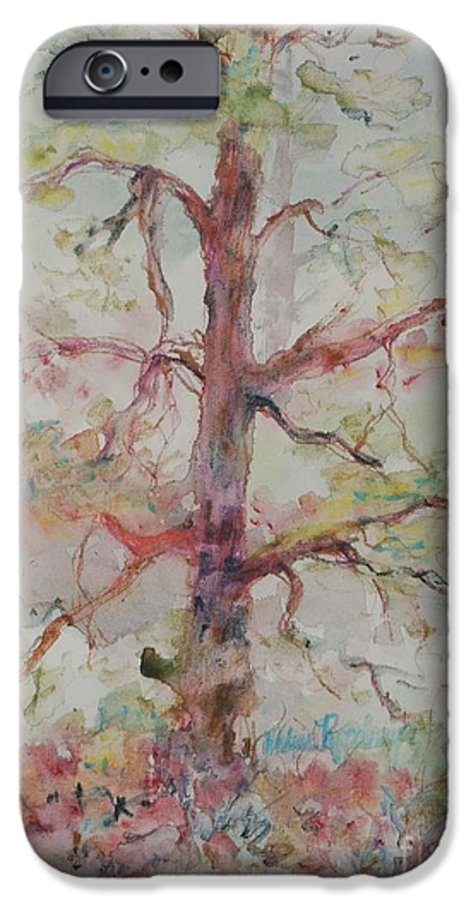 Forest IPhone 6 Case featuring the painting Pastel Forest by Nadine Rippelmeyer