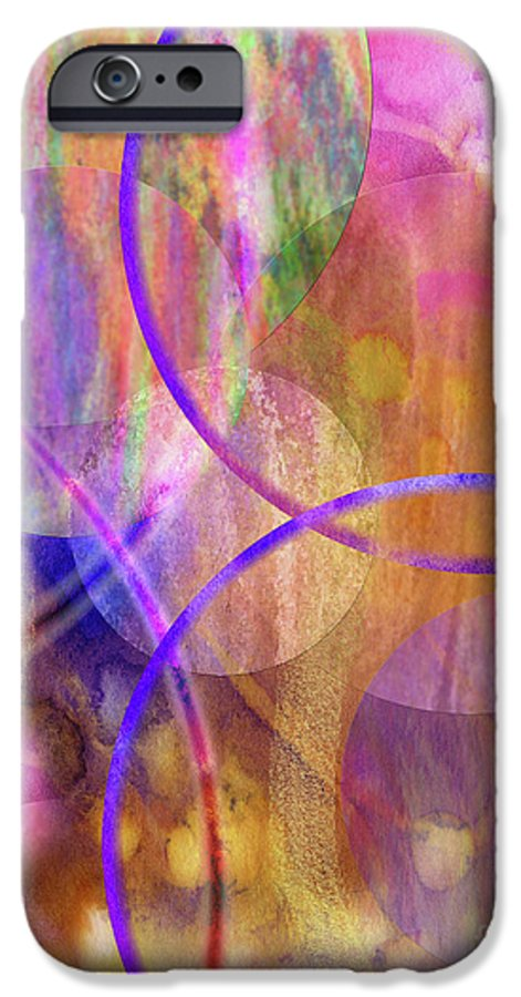 Pastel Planets IPhone 6 Case featuring the digital art Pastel Planets by John Beck