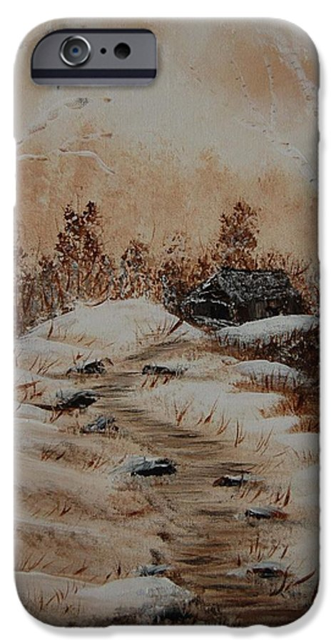 Acrylics IPhone 6 Case featuring the painting Pathway To Freedom by Laurie Kidd