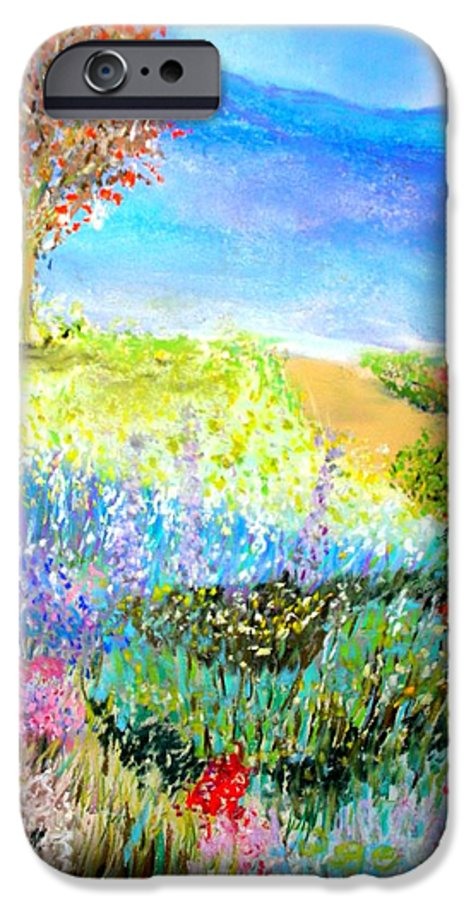 Landscape IPhone 6 Case featuring the print Patricia's Pathway by Melinda Etzold