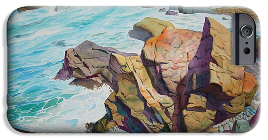 Watercolor IPhone 6 Case featuring the painting Patricks Point by John Norman Stewart