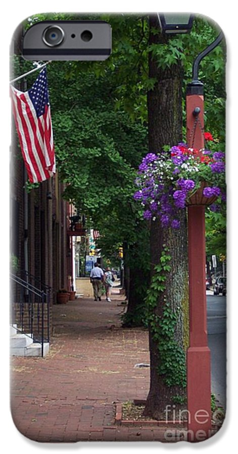Cityscape IPhone 6 Case featuring the photograph Patriotic Street In Philadelphia by Debbi Granruth