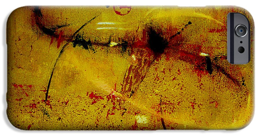 Abstract IPhone 6 Case featuring the painting Pay More Careful Attention by Ruth Palmer
