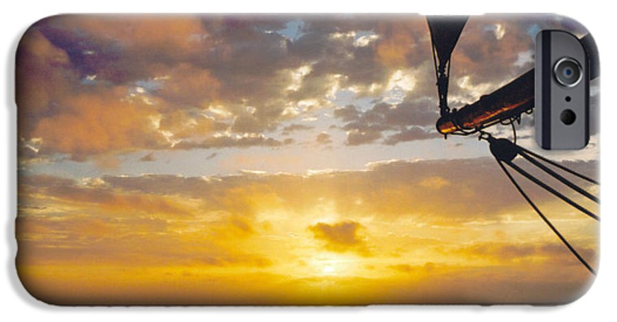Sunset IPhone 6 Case featuring the photograph Peaceful Sailing by Kathy Schumann
