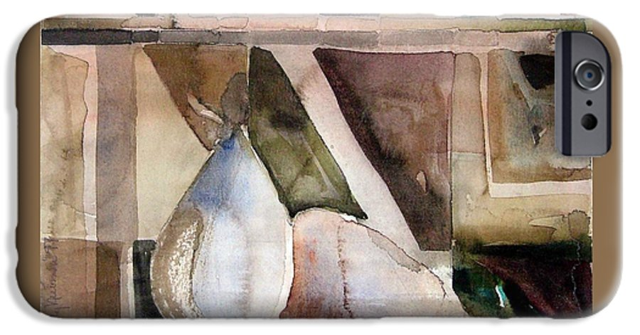 Pear IPhone 6 Case featuring the painting Pear Study In Watercolor by Mindy Newman