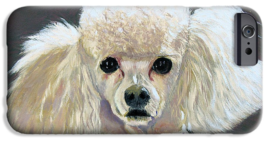 Dog IPhone 6 Case featuring the painting Pebbles by Stan Hamilton