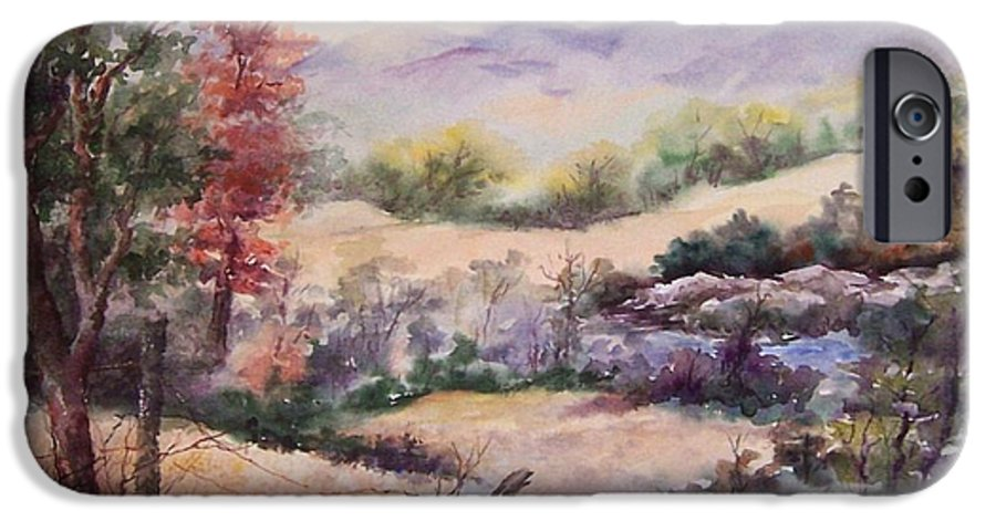 Fall IPhone 6 Case featuring the painting Pee Dee Creek by Virginia Potter