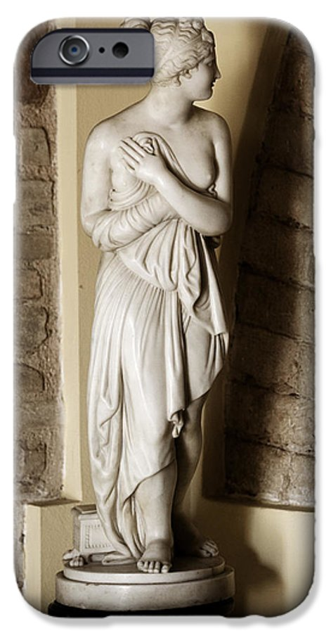 Statue IPhone 6 Case featuring the photograph Peering Woman by Marilyn Hunt