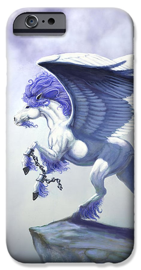 Pegasus.fantasy IPhone 6 Case featuring the digital art Pegasus Unchained by Stanley Morrison