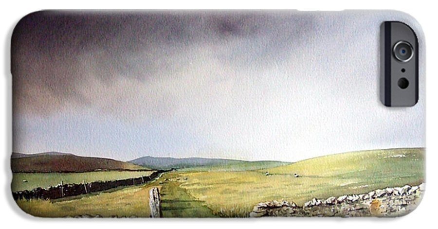 Landscape IPhone 6 Case featuring the painting Pennine Way by Paul Dene Marlor