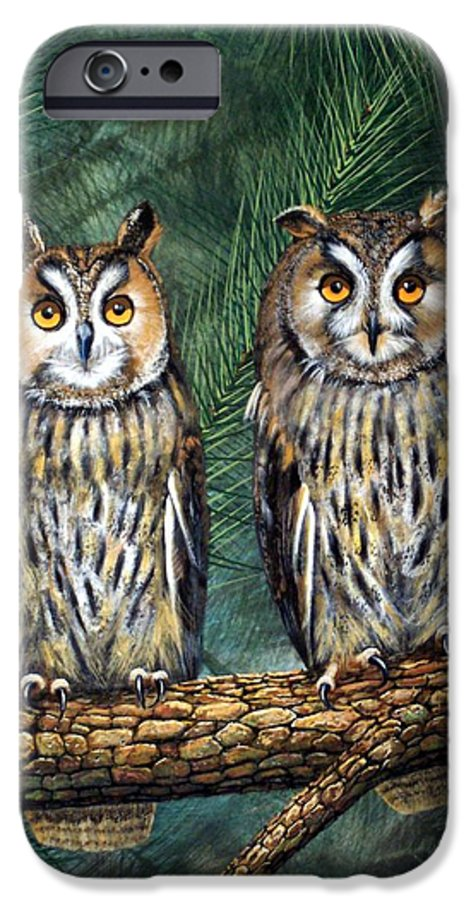 Wildlife IPhone 6 Case featuring the painting Perfect Strangers by Frank Wilson