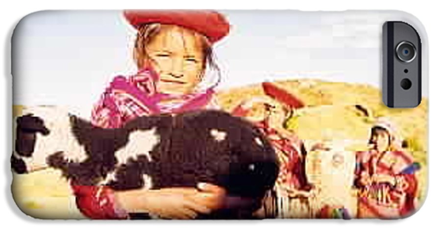 Peru IPhone 6 Case featuring the photograph Peruvian Girl by Kathy Schumann