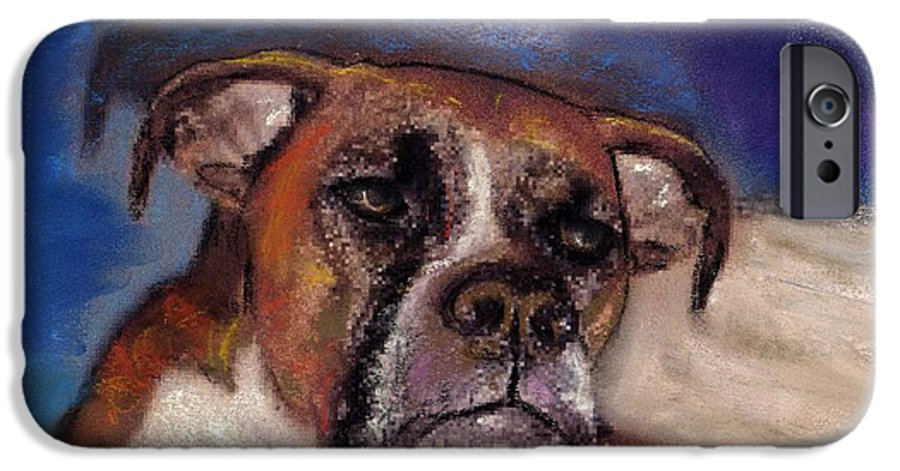 Pastel Pet Portraits IPhone 6 Case featuring the painting Pet Portraits by Darla Joy Johnson