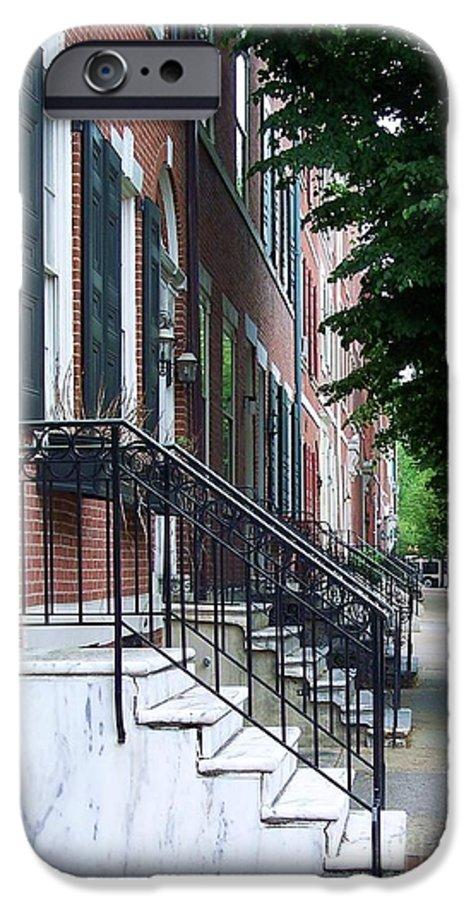 Architecture IPhone 6 Case featuring the photograph Philadelphia Neighborhood by Debbi Granruth