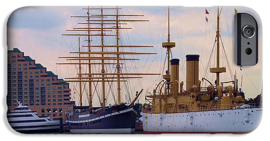 Philadelphia IPhone 6 Case featuring the photograph Philadelphia Waterfront Olympia by Debbi Granruth
