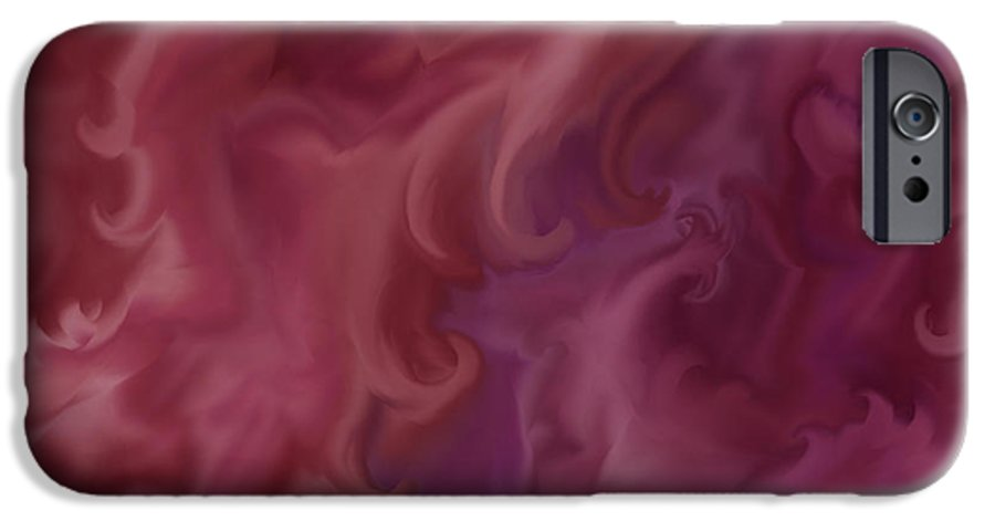 Fantasy IPhone 6 Case featuring the painting Phoenix Rising by Anne Norskog