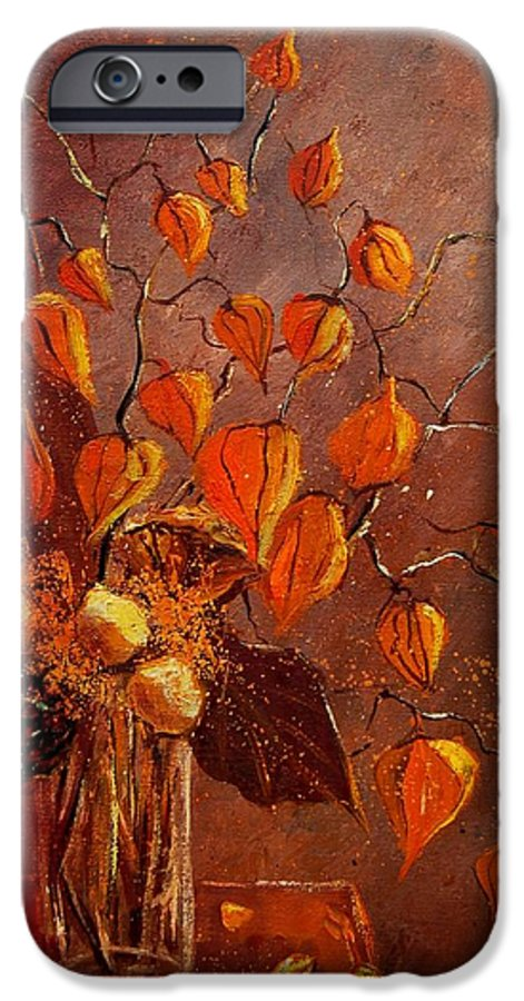 Poppies IPhone 6 Case featuring the painting Physialis by Pol Ledent