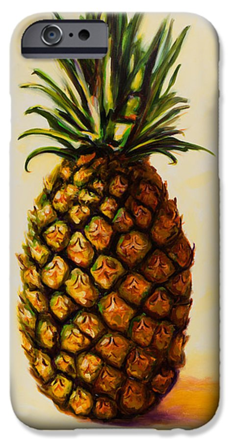 Pineapple IPhone 6 Case featuring the painting Pineapple Angel by Shannon Grissom